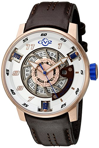 GV2-by-Gevril-Mens-Motorcycle-Sport-Automatic-Stainless-Steel-and-Brown-Leather-Casual-Watch-Model-1302