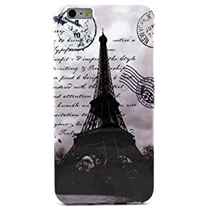 iPhone 6 Plus Case ,Wandeneng Tower Printed Pattern Soft Silicone Gel TPU Rubber Skin Case Cover Protective for iPhone 6 5.5 Inch