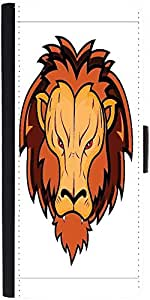 Snoogg Lion Mascot Graphic Snap On Hard Back Leather + Pc Flip Cover Asus Zen...