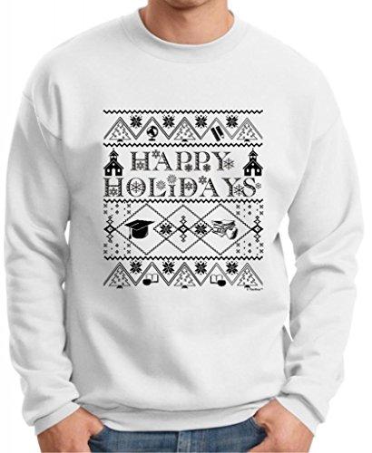 Ugly Christmas Sweater For Teachers Premium Crewneck Sweatshirt Xx-Large White