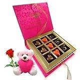 Chocholik Luxury Chocolates - True Love Combination Of Chocolates With Teddy And Rose