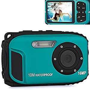 Prosteruk Waterproof Compact HD Digital DV Video Camera - Video Sound Camcorder Recorder Image and Video Capture Up to 16MP Pixels with 2.7