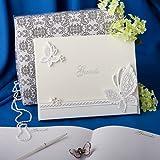 Butterfly design wedding guest book, 8