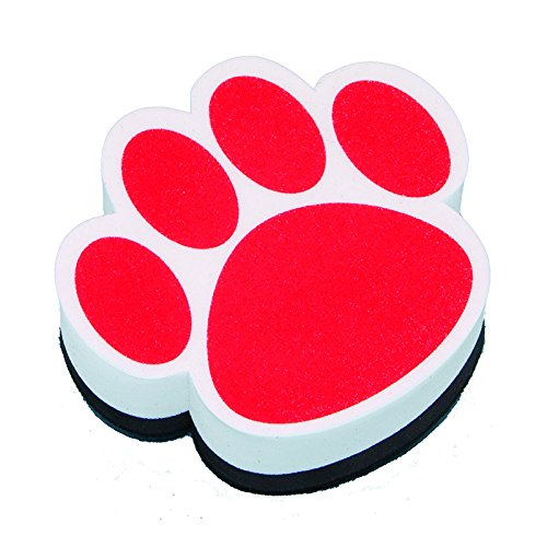ASHLEY PRODUCTIONS MAGNETIC WHITEBOARD ERASER RED PAW (Set of 24)