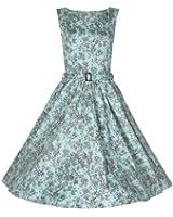 Lindy Bop Floral Chic Imprimer 'Audrey' Style Hepburn Pin-up Vintage Robe De 1950