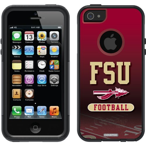 Special Sale Florida State Football Field design on a Black OtterBox® Commuter Series® Case for iPhone 5s / 5