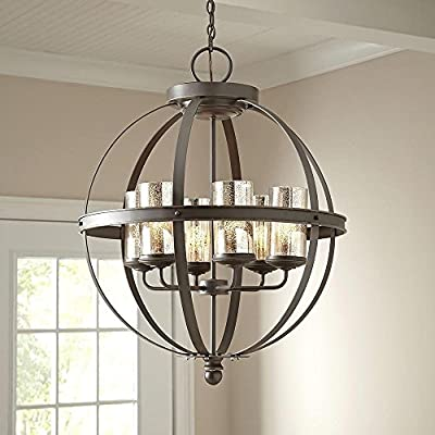 (Ship from USA) Modern 6 Light Globe Chandelier Orb Pendant Lighting Glass Shades Sphere Lamp /ITEM NO#8Y-IFW81854151068