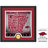 "NCAA Arkansas Razorbacks ""State"" Bronze Coin Photo Mint, 18 "" X 14"" X 3"", Bronze"