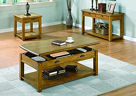 LIGHT OAK VENEER END TABLE WITH ONE DRAWER (SIZE: 27L X 23W X 25H)