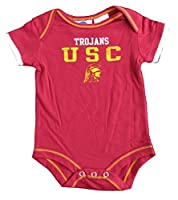 USC Trojans Onesie Size 0-3 Month NCAA Authentic Team Logo Bodysuit - Team Colors