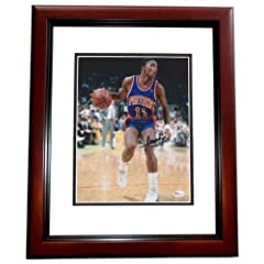 Isiah Thomas Autographed  Hand Signed Detroit Pistons 8x10 Photo - MAHOGANY CUSTOM... by Real Deal Memorabilia