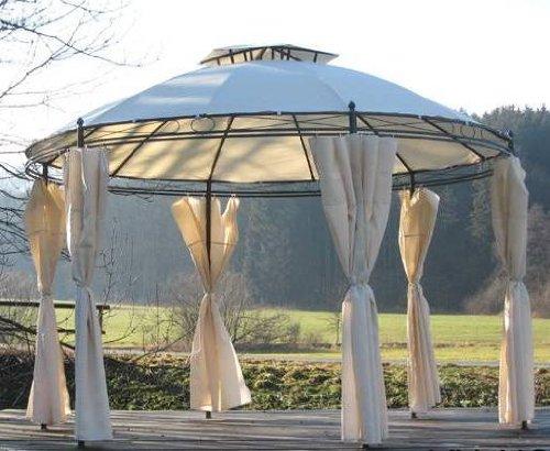 Pavillons Kaufen Eigenschaften : Toskana pavillon 350 cm doppeldach baldachin seitenteile