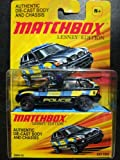 2011 Matchbox Lesney Edition BMW X5 Police Black