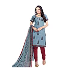 Sky Fashions Women's Multi Cotton Top Un-stiched Salwar Suit (SYFW0040)