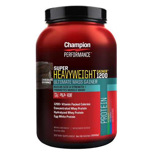 Champion Nutrition Super Heavyweight Gainer 1200 - Chocolate Brownie - 6.6 lbs (3000 g) (Weight Gain 900 Calories compare prices)