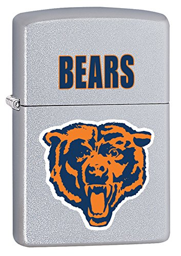 Zippo Lighter - NFL Throwback Chicago Bears Satin Chrome (Chicago Bears Lighter compare prices)