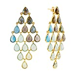 Watercolour Spectrum Chandelier Earrings by Auren