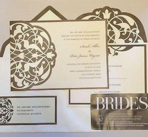 Brides Wedding Invitation Kit: Gartner Studios Brides DIY Wedding Invitation Kit In Brown