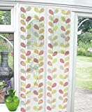 Magnetic Clasping Insect Printed Door Screen (90 x 210 cm) - Leaf Design