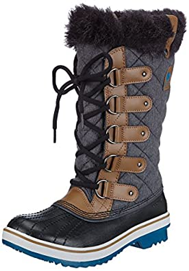 Sorel Women's Tofino Faux Fur Lined Boots, Grizzly Bear/Siberia, 5.5 B(M) US