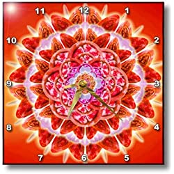3dRose dpp_193591_3 Root Chakra-Wall Clock, 15 by 15-Inch