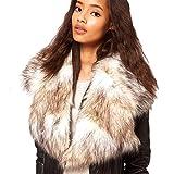 ETOSELL Womens Sexy Winter Warm Faux Fox Fur Collar Scarf Shawl Wrap Neck
