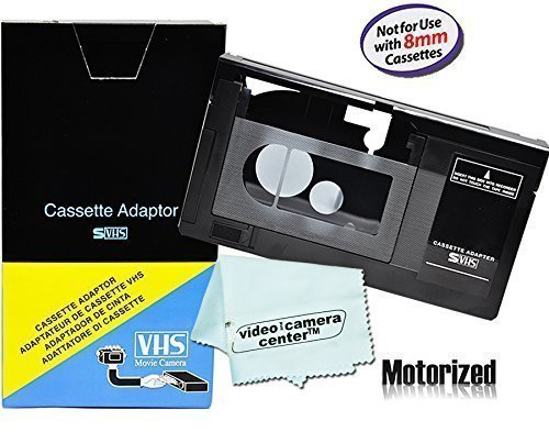 Best Buy! Motorized VHS-C Cassette Adapter For JVC C-P7U CP6BKU C-P6U,Panasonic PV-P1,RCA VCA115 + 1 VCC113 Micro-Fiber ClothTM