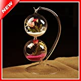 New Creative Flower Pot Hanging Double Balls Decorative Glass Table Vase For Air Plant Terrarium Crystal Hydroponic...