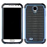 Bracevor Triple Layer Defender Hard Shell Back Case Cover for Samsung Galaxy S4 i9500 - Blue