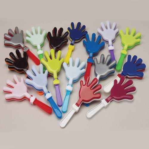 Blue and Yellow Hand Clappers