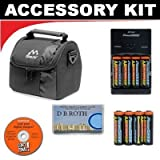 Deluxe Accessory Kit With 8 AA Rechargeable Batteries + Rapid Charger + Digital Camera Case For The Nikon Coolpix L21, L22, L110 Digital Camera