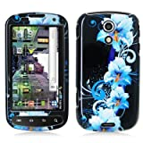 Crystal Hard Faceplate Cover Case With Blue and Black Flower Design for Sam ....