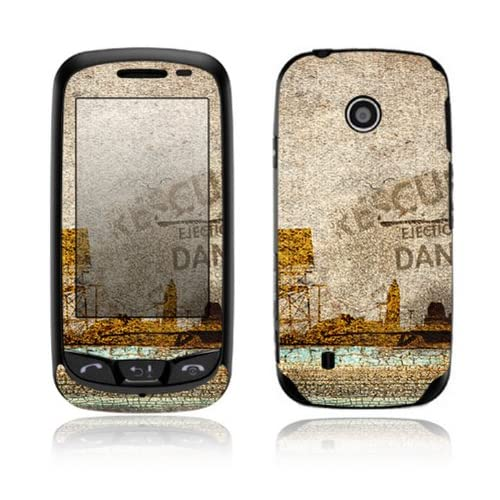 Danger Design Decorative Skin Cover Decal Sticker for LG Cosmos Touch VN270 Cell Phone