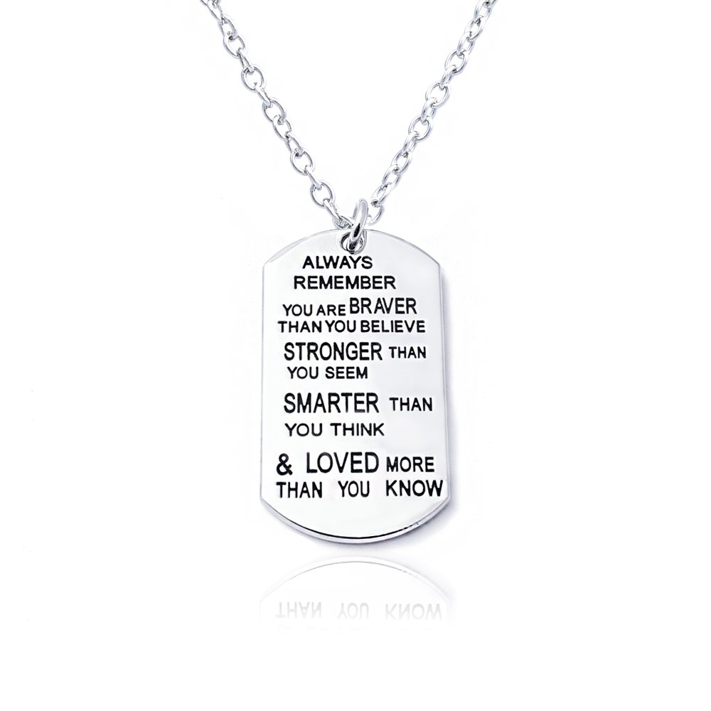 Always Remember Braver Pendant Necklace