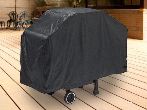 "Deluxe Waterproof Barbeque BBQ Grill Cover Medium 59"" Length Black - 100% Waterproof Barbecue Propane Gas Grill Winter Storage Cover"