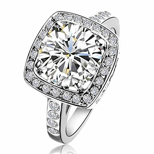 Yoursfs Gorgeous Element Crystal 18k White Gold Plated 1.5ct Emulational Diamond Ring (7)