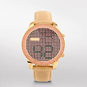 Electro Tick Leather Watch - Sand