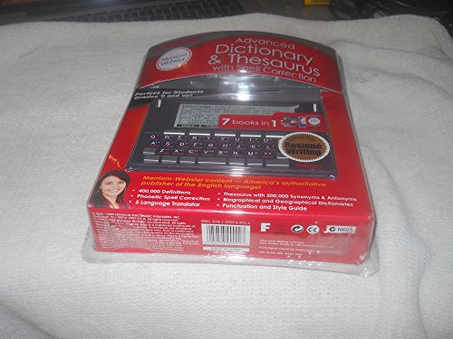 Franklin Merriam Webster Advanced Dictionary and Thesaurus With Spell Correction (MWD-1500) (Electronic Italian Dictionary compare prices)