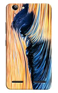 Omnam Stripes Pattern Printed Designer Back Cover Case For Lenovo Vibe K5 Plus