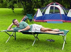 Texsport King Kot Giant Green 83in X 35in X 20in Folding Camp Cot