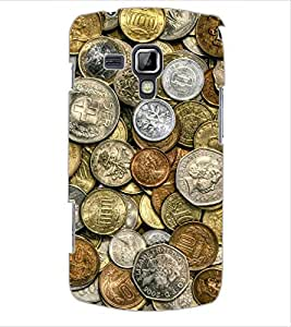 ColourCraft Antique Coins Design Back Case Cover for SAMSUNG GALAXY S DUOS S7562