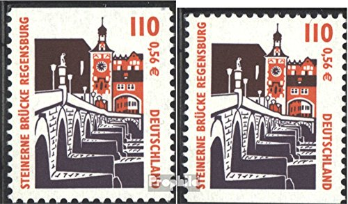 BRD (BR.Deutschland) 2140C-2140D (kompl.Ausgabe) gestempelt 2000 Sehenswürdigkeiten (Briefmarken für Sammler)