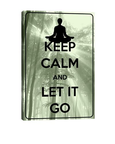 Keep Calm and Let It Go Giclée Canvas Print