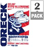 Oreck Compact Canister Vacuum For Oreck Bagged Pack / 12, 2 Count