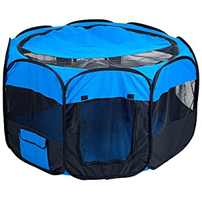 PAW Pet Pop-Up Playpen Deluxe with Canvas Carrying Bag