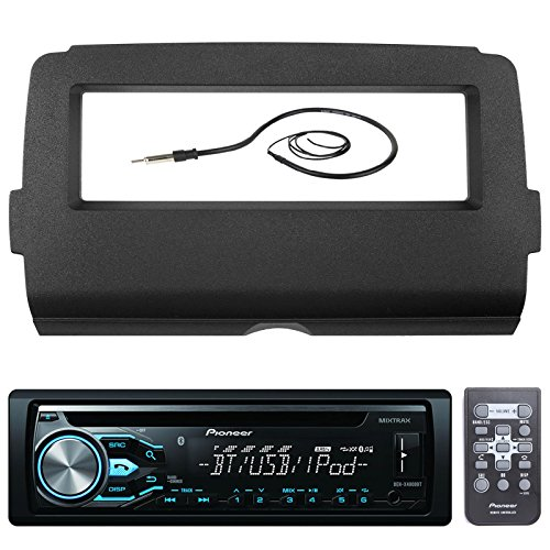 Pioneer DEH-X4800BT Marine Bluetooth Radio USB AUX CD MP3 WMA Audio Receiver Bundle Combo With Scosche Installation Dash Kit for 2014 and Up Harley Motorcycle, Enrock 22