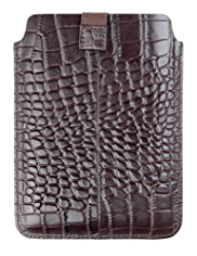 Leather Mock Crocodile Skin Kindle Case