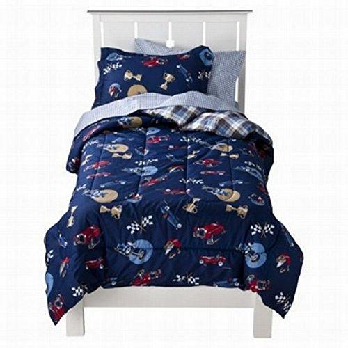 Circo Full Bed In A Bag Vintage Cars Boys Comforter Set Sheets Shams Blue 7 Pc front-948620
