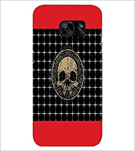 PrintDhaba Skull D-6044 Back Case Cover for SAMSUNG GALAXY S7 (Multi-Coloured)