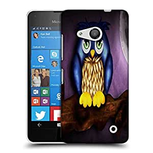 Snoogg Cute Owl Designer Protective Phone Back Case Cover For Nokia Lumia 550